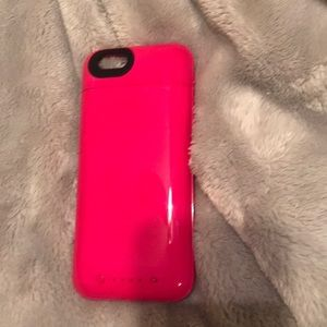 Hot pink mophie case iPhone 6s